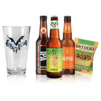 IPA Craft Beer Gift Set with Flying Dog Pint Glass (3 Pack)