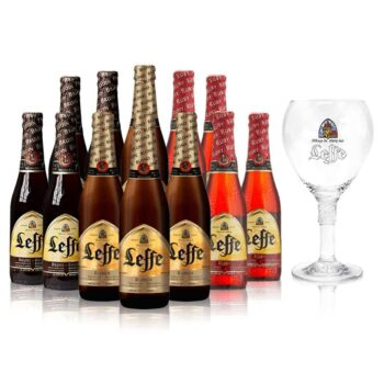 Leffe Belgian Beer Mixed Case 330ml bottles with Glass (12 Pack)