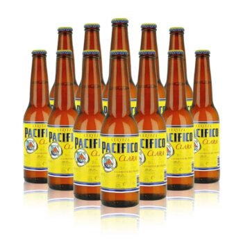 Pacifico Premium Mexican Lager 355ml bottles (12 Pack)