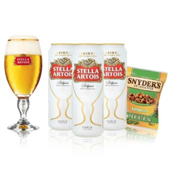 Stella Artois Pint Can Gift Pack with Glass (3 Pack)