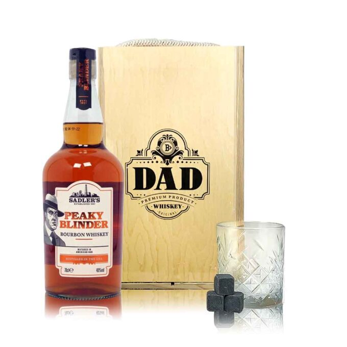 Peaky Blinders Bourbon Whiskey Father's Day Gift Box with Glass & Whiskey Stones