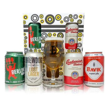 European Lager 4 Can Gift Pack (330ml Cans)