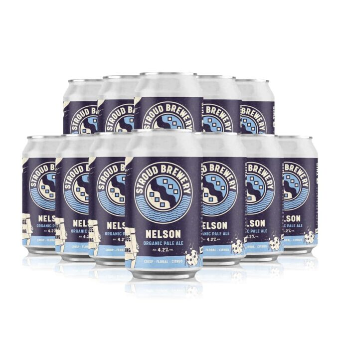 Stroud Brewery Nelson Organic Pale Ale 330ml Cans ( 12 Pack)