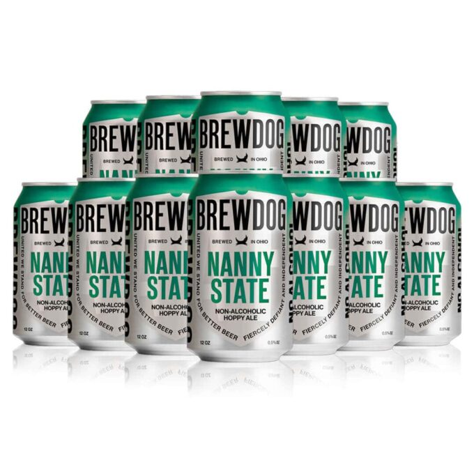 Brewdog Nanny State Alcohol Free Hoppy Ale 330ml Cans (12 Pack) - 0.5% ABV