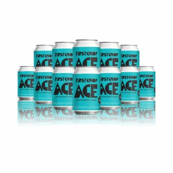 First Chop ACE Mittelfrüh Lager 330ml Cans - 4.8% ABV (12 Pack)