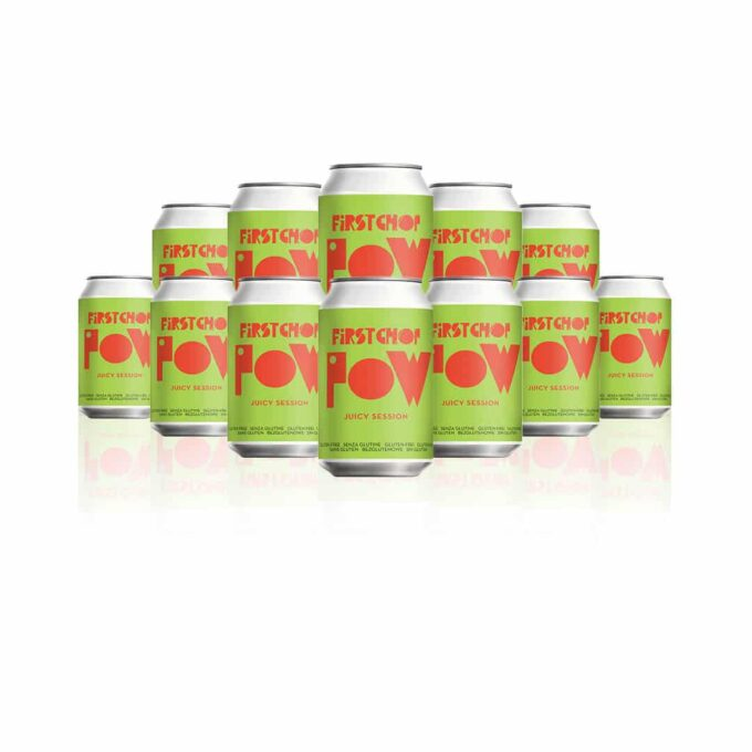 First Chop POW Juicy Session 330ml Cans - 4.1% ABV (12 Pack)