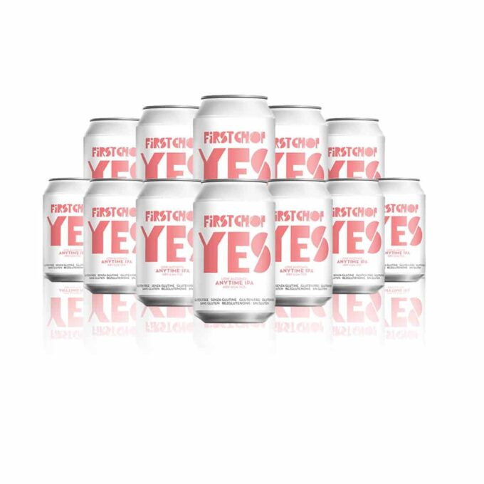 First Chop YES Low Alcohol IPA 330ml Cans - 0.5% ABV (12 Pack)