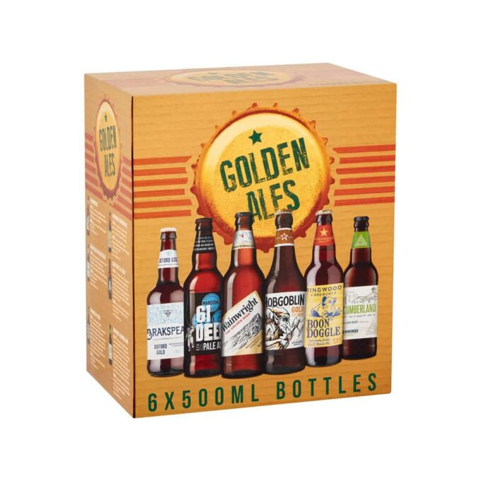 Marston's Golden Assorted Ales Mixed Case 500ml Bottles (12 Pack)