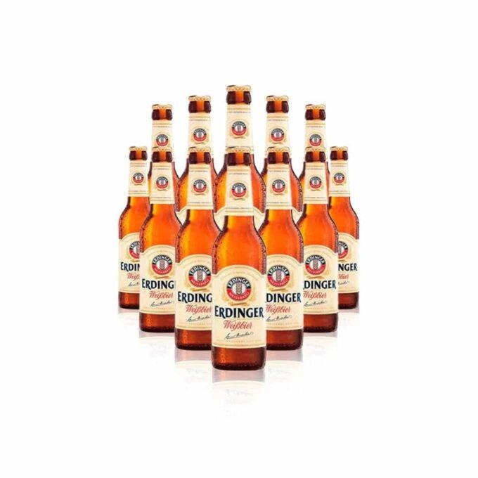 Erdinger Weissbier German Beer 330ml Bottles - 5.3% ABV (12 Pack)