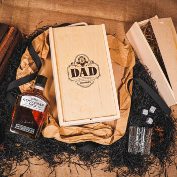 Personalised Gentleman Jack Whisky Gift Set with Glass & Whisky Stones 70cl